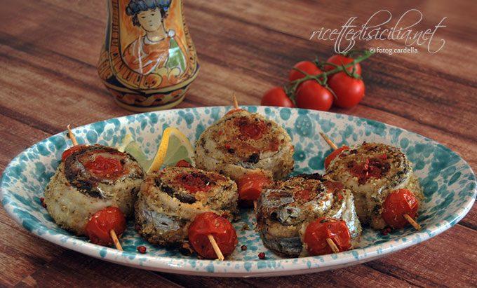 girelle di spatola al pistacchio e pomodoro pachino